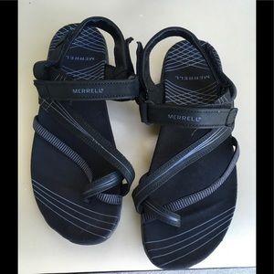 Merrell Black Sandals adjustable Straps sz 8/39